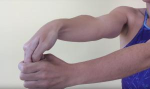 Estiramiento del músculo supinador largo 2
